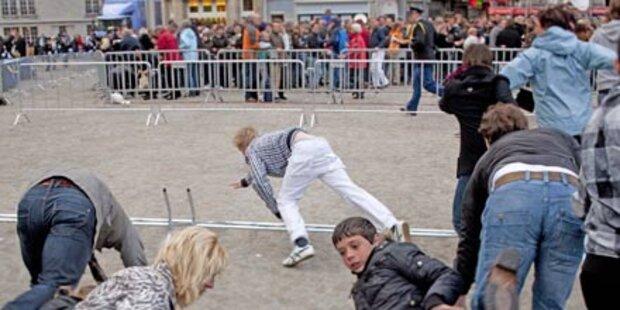 Amsterdam: Massenpanik bei Trauerfeier