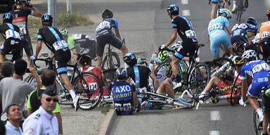 Tour de France startet mit Massensturz