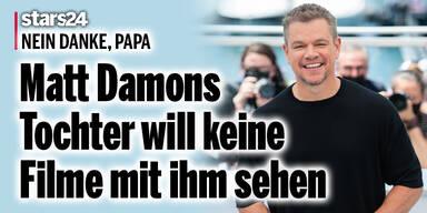 Matt Damons Tochter will keine Filme mit ihm sehen