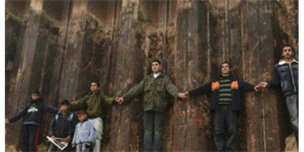 Menschenkette im Gaza-Streifen gebildet