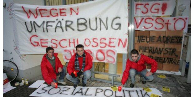 VSStÖ mauerte SPÖ-Parteizentrale zu
