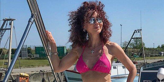 Christina Lugner auf großer Fahrt in Italien