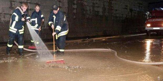 Schwere Überflutungen in Mauthausen