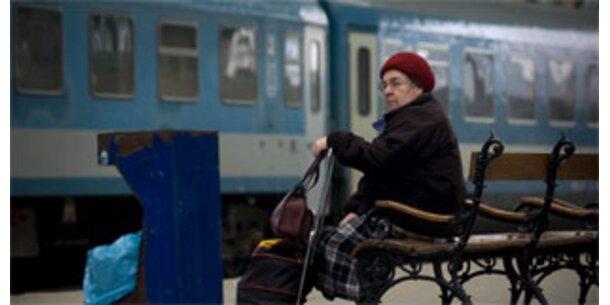 Eisenbahner-Streik lähmt Ungarn