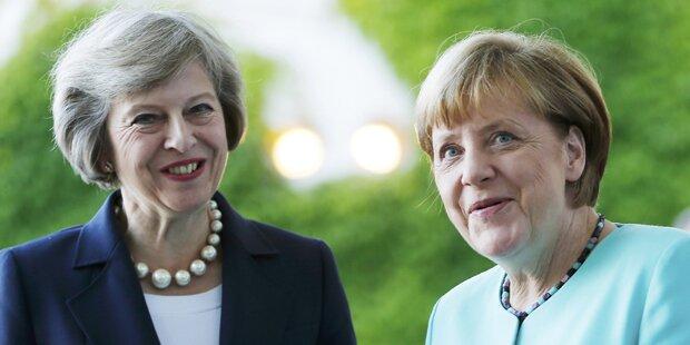 Merkel empfängt neue Premierministerin May