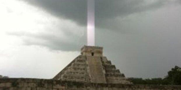 Rätsel um Lichtstrahl aus Maya-Tempel