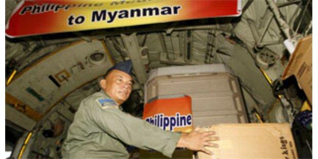 Militärjunta in Burma zweigt Opfer-Hilfe ab