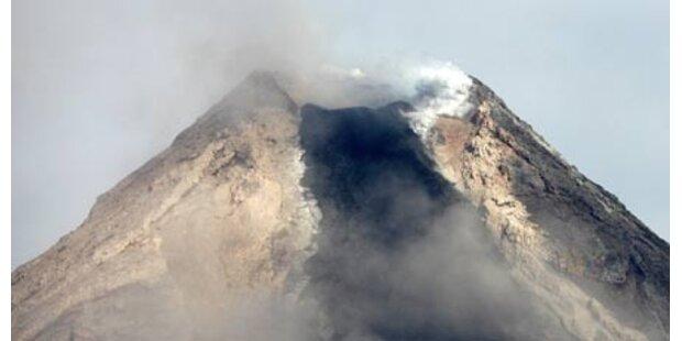 Vulkan Mayon vor dem Ausbruch