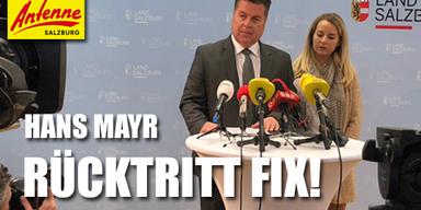 Hans Mayr Rücktritt
