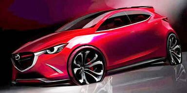 Neue Skizze vom nächsten Mazda2
