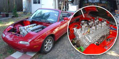 Mazda MX-5 mit 12-Zylinder-Motor