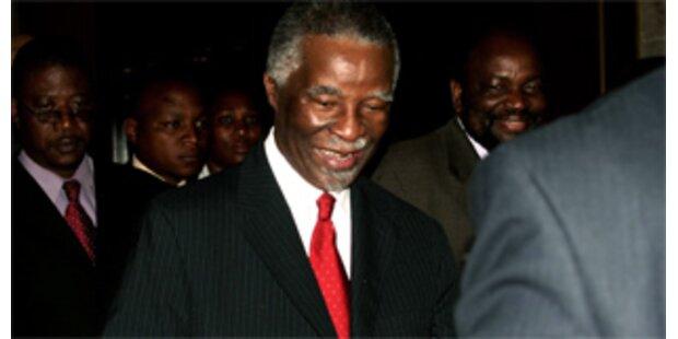 Mbeki aus Simbabwe abgereist