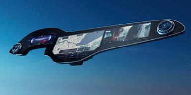 Neues Mercedes-Cockpit: Gesamtes Armaturenbrett als Display