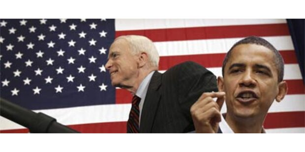Barack Obama liegt vor John McCain