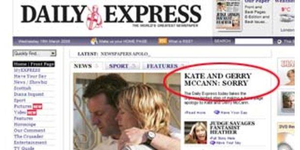 Medien entschuldigen sich bei Maddies Eltern