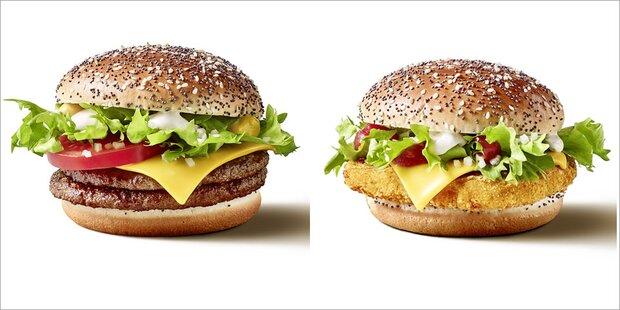 McDonald's hat zwei neue Burger am Start