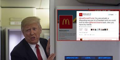 McDonald's gehackt & Trump beschimpft