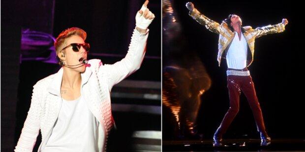 Justin Bieber singt mit Michael Jackson