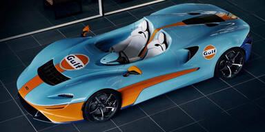 """McLaren bringt den Elva im """"Gulf""""-Design"""