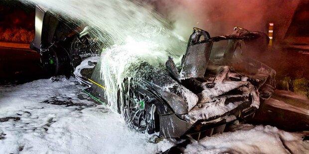 1,2-Mio.-Euro-Sportwagen von YouTube-Star ausgebrannt