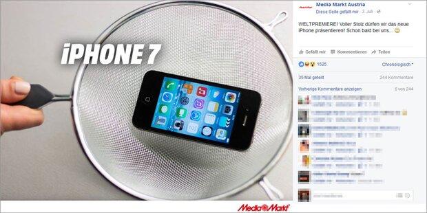 MediaMarkt begeistert mit iPhone-7-Foto