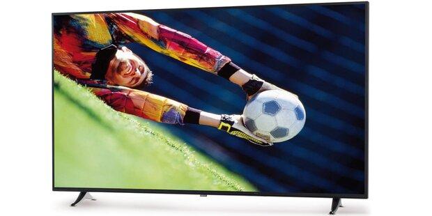 Großer 4K-TV (65 Zoll) mit HDR bei Hofer