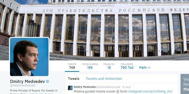 Twitter-Account von Medwedew gehackt