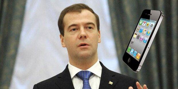 Medwedew bekam Schwarzmarkt-iPhone