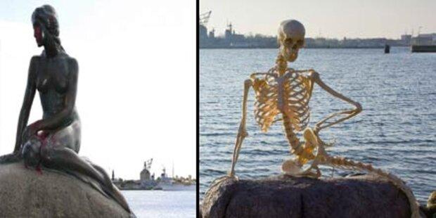 Kleine Meerjungfrau nur noch ein Skelett