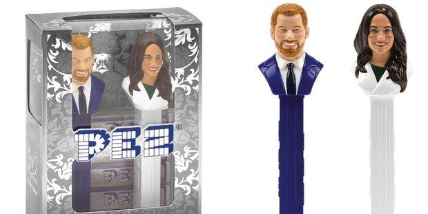 Meg und Harry als PEZ-Spender brachte...