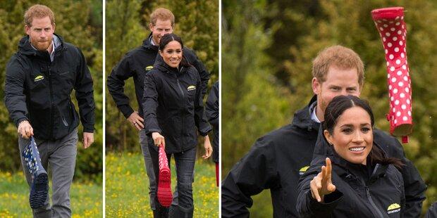 Harry gegen Meg: Bei diesem Sport verlor der Prinz