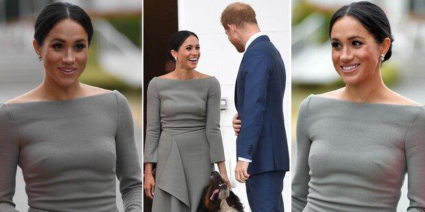 Ups! Meghans Kleid zeigt zu viel