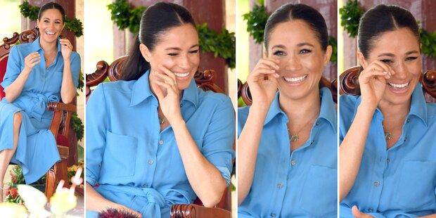 Video: Warum Meghan hier Tränen lacht