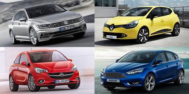 Die meistverkauften Autos in Österreich