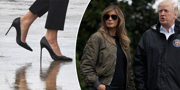 Melania Trumps High Heels werden zur Staatsaffäre