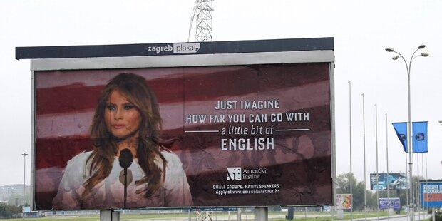 Werbung mit First Lady bringt Welt zum Lachen