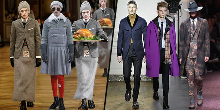 Männer 'rocken' in der Modemetropole