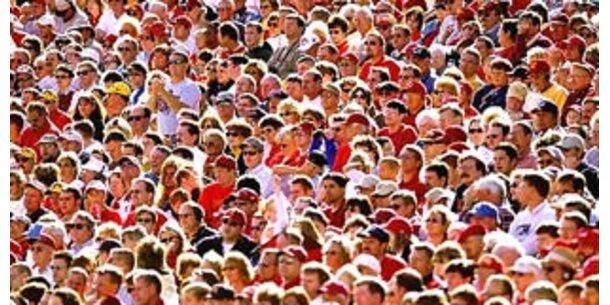 Weltbevölkerung bis 2012 bei 7 Milliarden