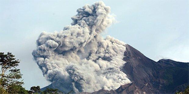 Erneuter Ausbruch des Vulkans Merapi