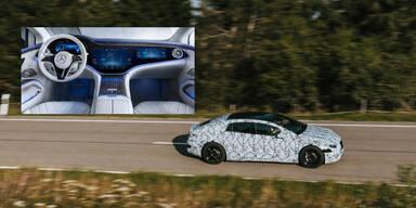 Mercedes zeigt High-Tech-Cockpit des EQS
