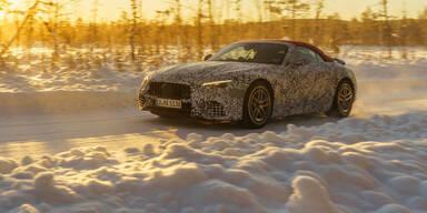 Neuer Mercedes SL als Prototyp im Härtetest