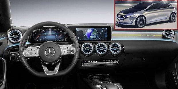Neue A-Klasse bekommt Hightech-Cockpit