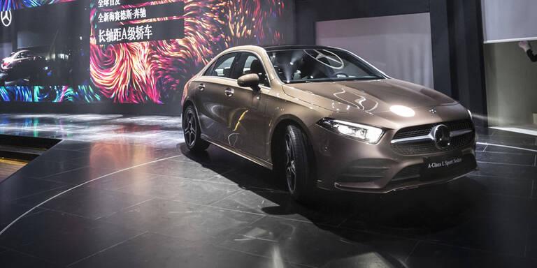 Mercedes zeigt neue A-Klasse Limousine