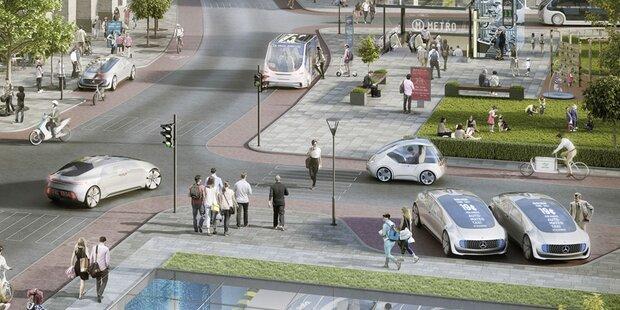 Roboterautos von Mercedes starten früher