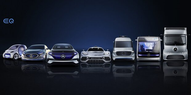 Daimler bringt 10 neue Elektroautos