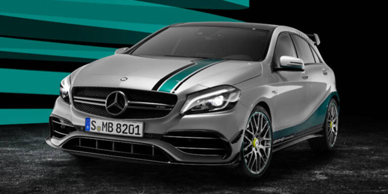 Mercedes A 45 AMG im Formel-1-Look