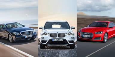 Mercedes, BMW & Audi geben weiter Gas