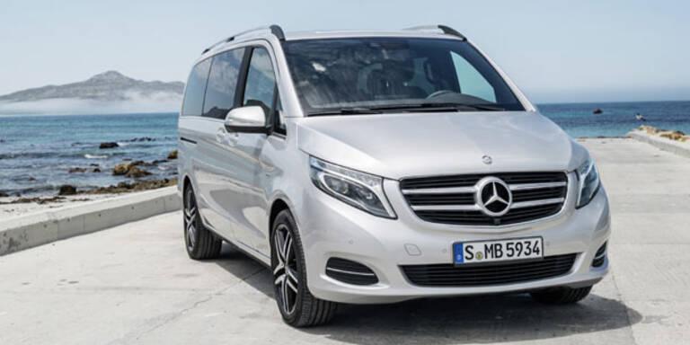 Mercedes V-Klasse greift den VW Bulli an