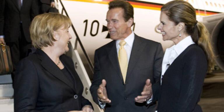 Schwarzenegger empfängt Merkel