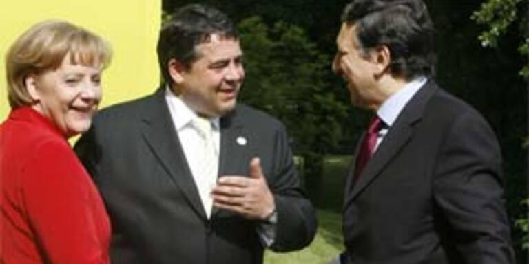 Merkel, Gabriel und Barroso.